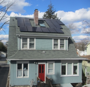 Solar-powered house in Stamford, CT